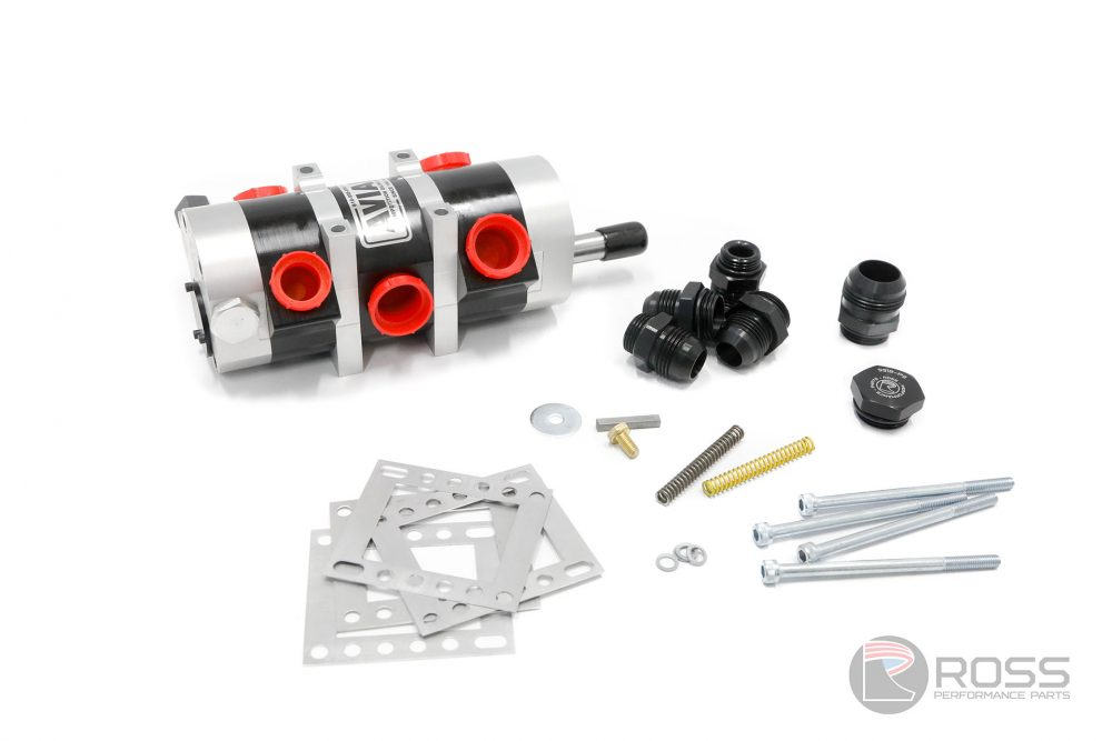 9950344-3238 Universal Aviaid 3 Stage External Oil Pump - LH Mounting with 1x1.25 Pressure and 2x1.5 Suction