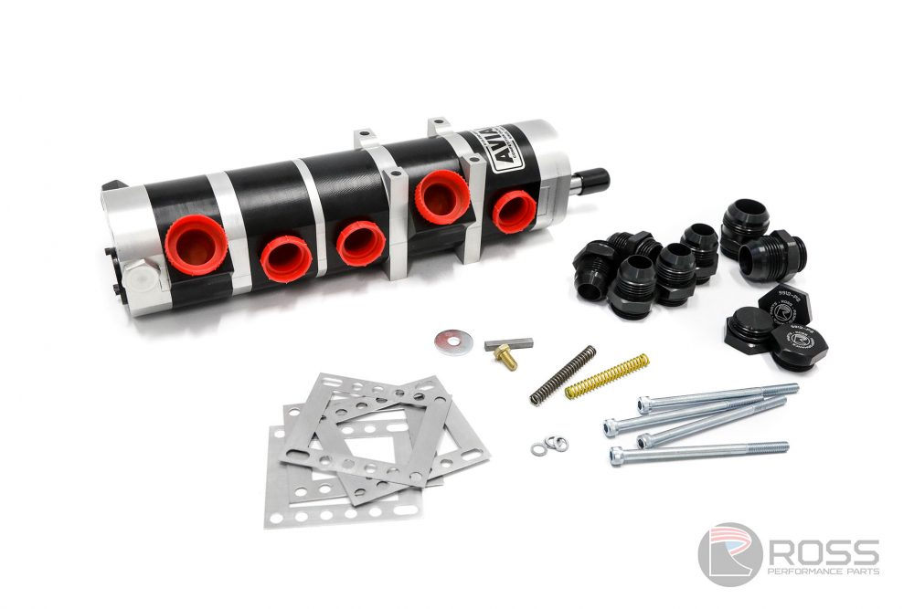 9950511-3845 Universal Aviaid 5 Stage External Oil Pump - LH Mounting with 1x1.5 Pressure and 4x1.75 Suction